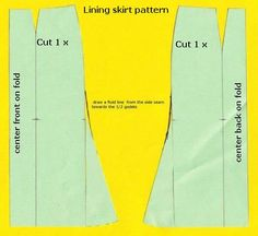Draft a skirt with godets