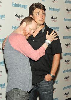 Joss Whedon and Nathan Fillion