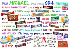 Birthday Candy Card