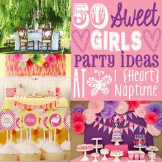 50 Awesome Girls Party Ideas via iheartnaptime.net - So many fun ideas! #parties #girls