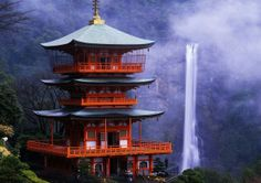 temples, bucket list, waterfalls, japanese architecture, wallpapers, places, travel, nachi fall, sweet home