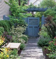 possible pattern for fence and demi-pergola to fence back yard. Run it from front corner of house diagonally to  meet Tuckett's fence. by mariana Yard Garden, Fenc, Outdoor Rooms, Garden Gates, Side Yards, Paint Colors, Pergola, Backyard, Yard Ideas