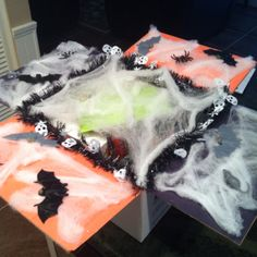 This is a fun way to package a Halloween care package.