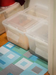 Katie's DIY No Mess Litter Boxes - made from filing boxes