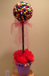 Gumball Topiary – DIY, Yes Even I Can DIM (do it myself!)
