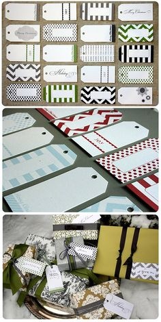 Gift Tags - Free PDF Printables in 3 Colorways. Love these!