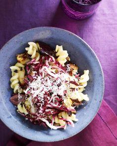 Eggplant and Radicchio Pasta