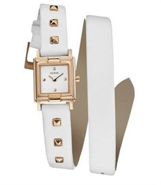 White & Gold GUESS Woman Watch  #Woman_Watch #Watches