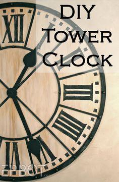 EPBOT: DIY Giant Tower Wall Clock - process pics & tutorial!