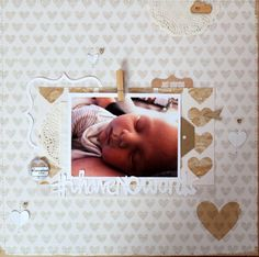I Have No Words... - Scrapbook.com - Lovely sleeping baby layout.