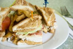 Peanut Butter Club: Turkey bacon club sandwich with Smooth Operator peanut butter.