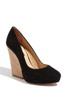 7 For All Mankind® 'Olivia' Wedge Pump   Great for walking the cemetery