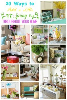 30 Ways to Add a Little Spring to Every Room in Your Home- Spring Decorating Ideas at The Happy Housie