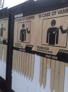 street marketing, vampires, true blood, trueblood, funni