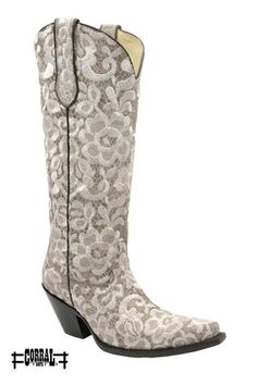 Corral Lace Leather Boot