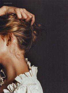 studio, being a girl, hair colors, fashion clothes, ruffl, blous, collar, beauty, shirt