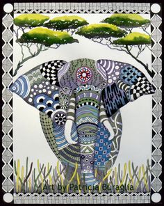 Elephant zen tangle