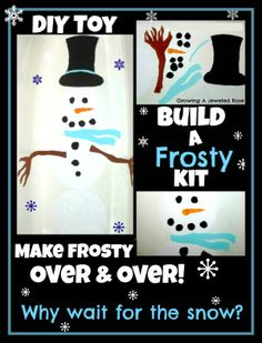 Homemade Toy- Build a Frosty Kit.  Warm Winter fun for kids!