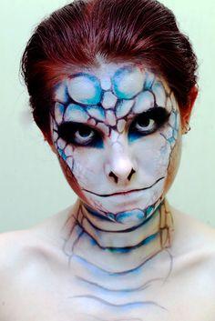 Fun face paint like a snake by LuciKoshkina.deviantart.com on @deviantART