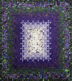 """My Indulgence"", 72 x 84"", by Alana Huck.  Blooming Nine Patch Quilt.  2013 Quilters Anonymous show, 2nd place."