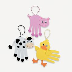 Farm Animal Handprint Craft