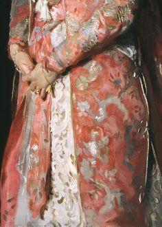 Portrait of Mrs Leopold Hirsch (detail), John Singer Sargent,  1902