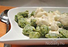 Spenótos+gnocchi+fokhagymás+csirkemellel