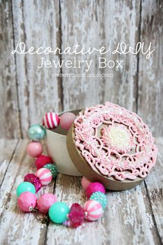 Create your own Decorative DIY Jewelry Box in a matter of minutes using Mod Podge's new Collage Clay! How to use Mod Podge Collage Clay to make a jewelry box #plaidcrafts #diy #decoden