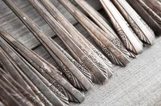 antique flatware collection. love that tarnish!