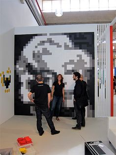 Pixels XL by CDRoig: Simple squares with a magnetic backing that can be arranged to form murals on a wall painted by magnetic paint and which can also be changed on a whim.