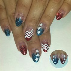 Star-Spangled Shellac by beautopianails from Nail Art Gallery