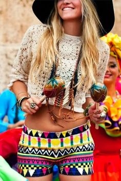 Vivid aztec designing shorts for your colorful summer | Fashion Inspiration