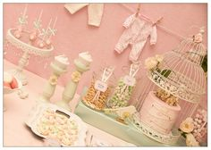 Una mesa preciosa para un baby shower / A lovely table for a baby shower