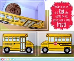 Back to School Yellow School Bus Box by SimplyEverydayMe on Etsy