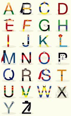 Superhero Alphabet - Boys' Room! boy superhero, comic, superhero letters, boy rooms, babi boy, nurseri, future kids, alphabet, iron man boys room