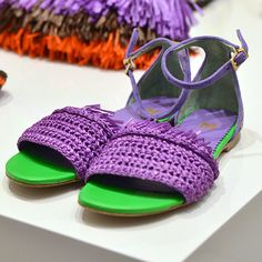 #MMissoni Accessories | Purple Fringe Sandals | Summer 2014 Collection