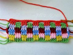 Muestra tejido al crochet