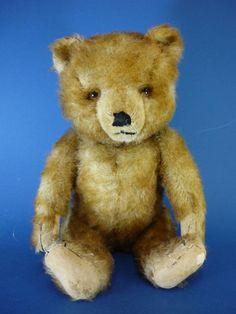 Hermann Apricot Tipped Plush Teddy Bear c1950s German Vintage