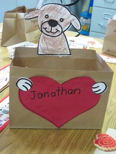 Kindergarten Valentine's Day Mailboxes