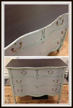 Dresser top redone with General Finishes Java Gel Stain