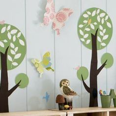 An outdoor theme for the playroom/bedroom...