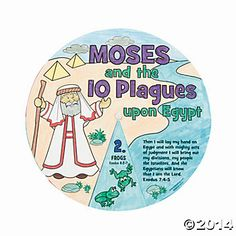 Old Testament Book 1, Lesson 25 The Plagues of Egypt Color Your Own 10 Plagues Wheels (5.75 for 12)