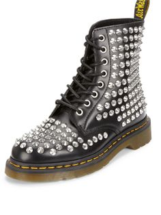 Dr Martens Spike Black All Over Stud Boots | very.co.uk
