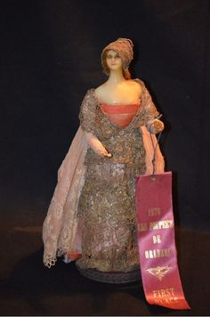 Antique Lafitte Desirat French Wax Doll Award Winning Les Poupee's from oldeclectics on Ruby Lane