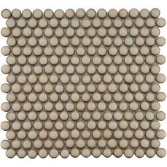 $6.95 Penny Round 12 1/4 in. x 12 in. Caffe Porcelain Mosaic Floor and Wall Tile-FKOMPR73 at The Home Depot