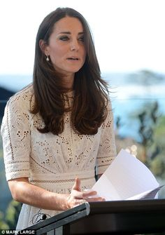 Kate's speech: The Duchess of Cambridge said 'it was wonderful to be here today', when addressing the Bear Cottage Hospice in Manly