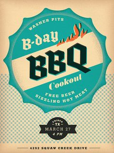 BBQ Poster | #graphicdesign #poster