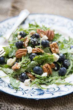 Let's Party: Blueberry Arugula Salad