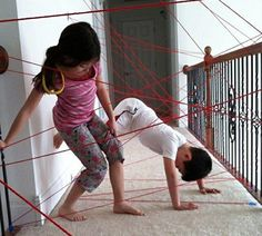 Make a Laser Grid Obstacle Course Out of Yarn, This could be a fun activity for the students.