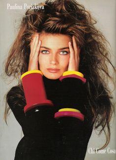 """""""Chi Come Cosa"""", Vogue Germany, August 1987  Model: Paulina Porizkova"""